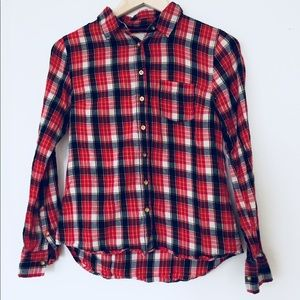 *3/$20 SALE* J. Crew red plaid shirt